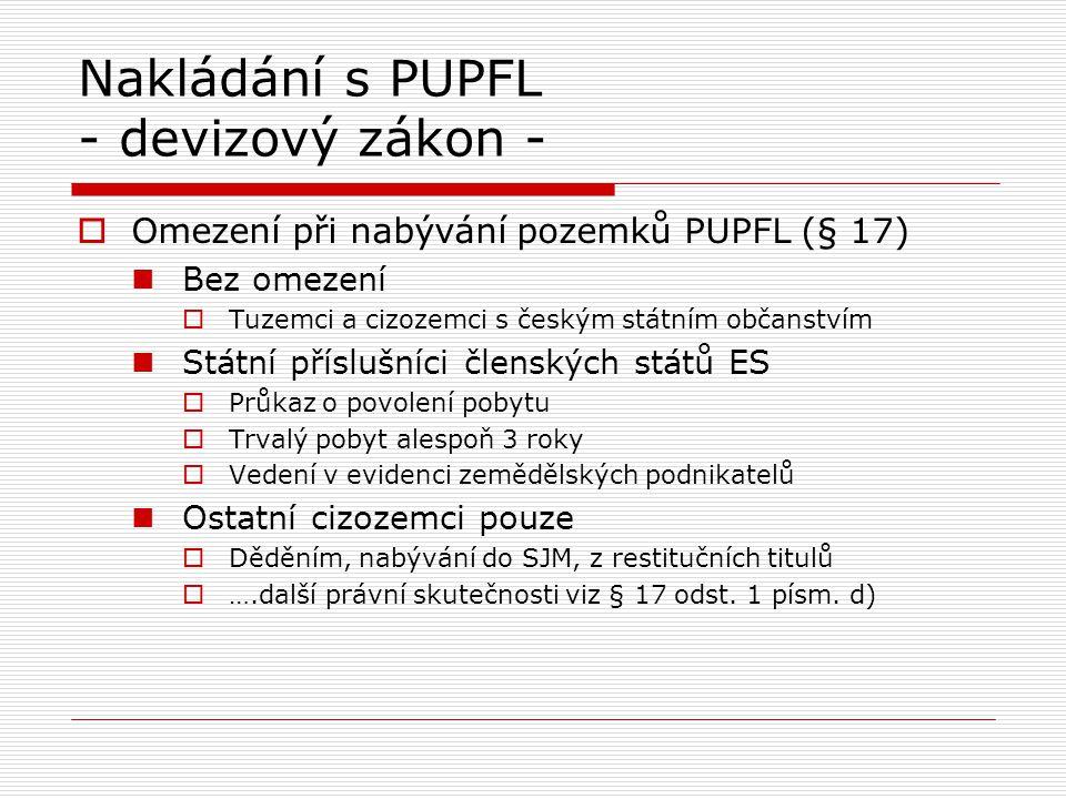 Nakládání s PUPFL - zákon o lesích -  Podnájem není dovolen, není-li v nájemní smlouvě dohodnuto jinak (srov.