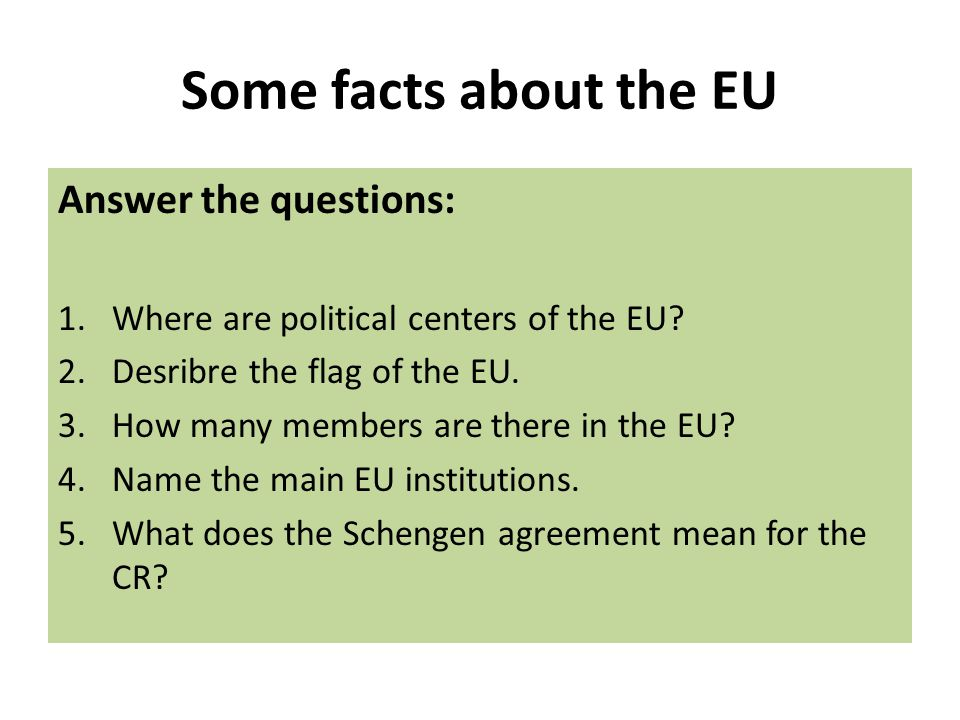 Fill in the gaps 1.The main official ………………..in the EU are English, French nd German.