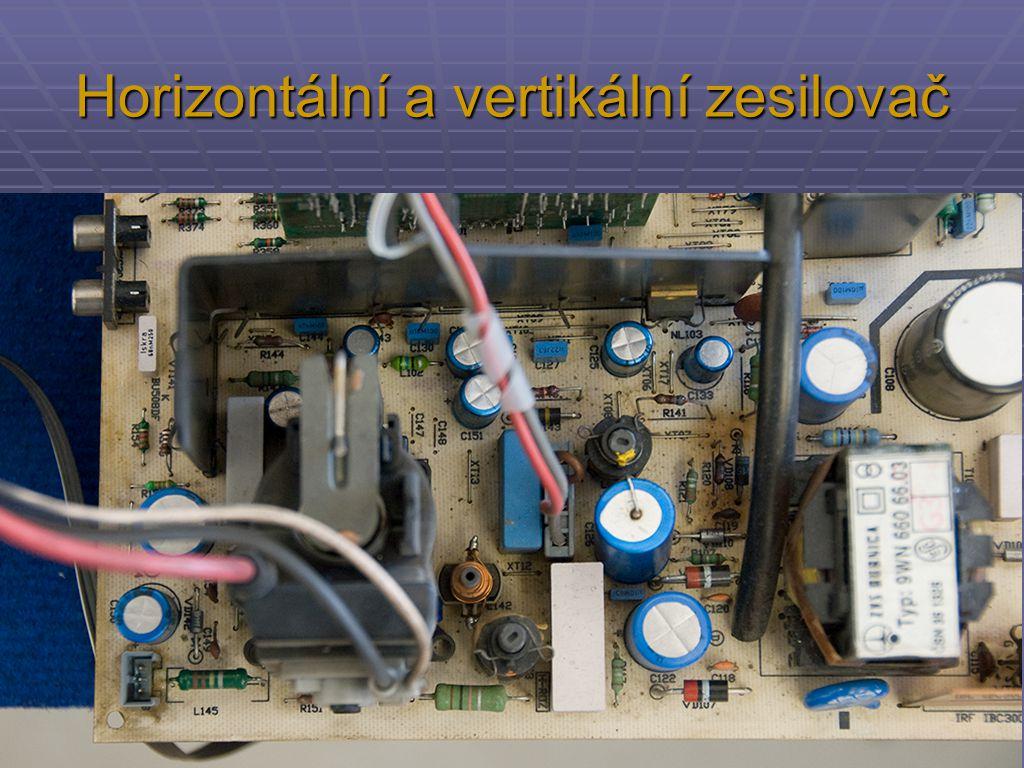 Horizontální a vertikální zesilovač