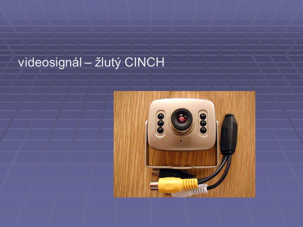 videosignál – žlutý CINCH