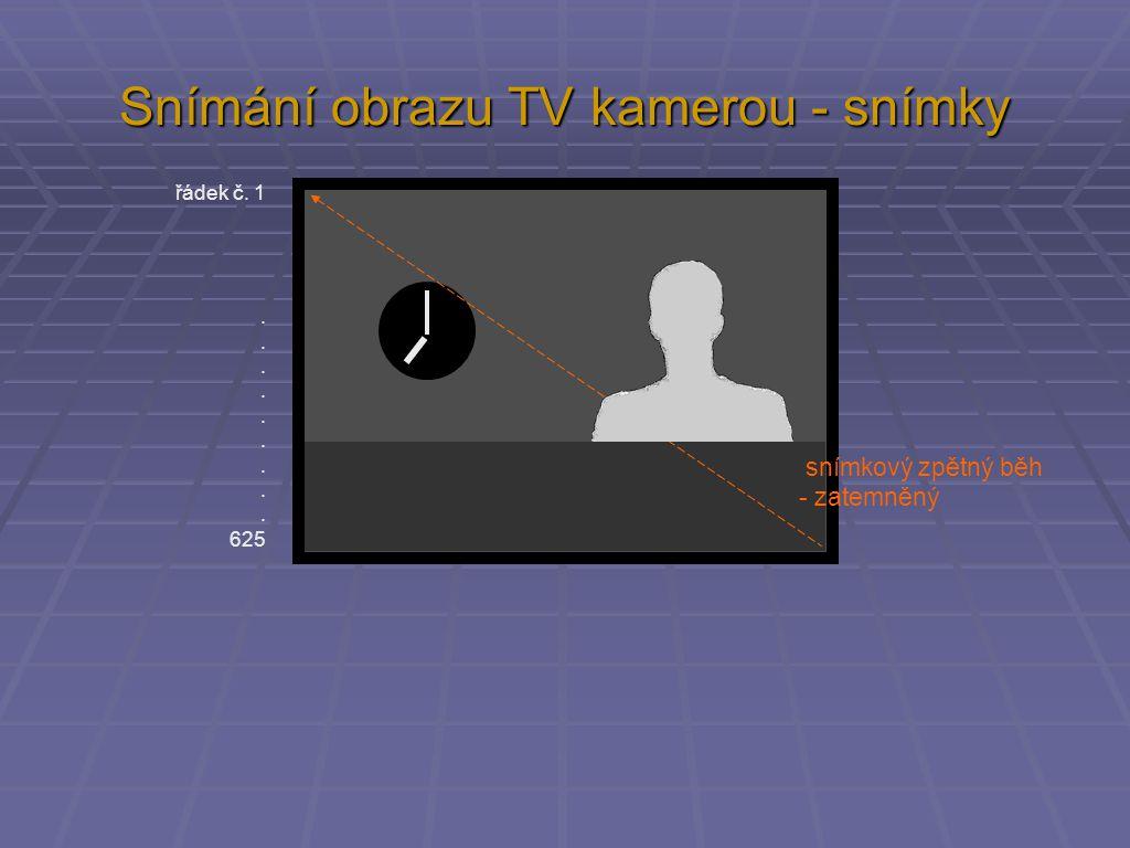 Snímání obrazu TV kamerou - snímky řádek č.1.