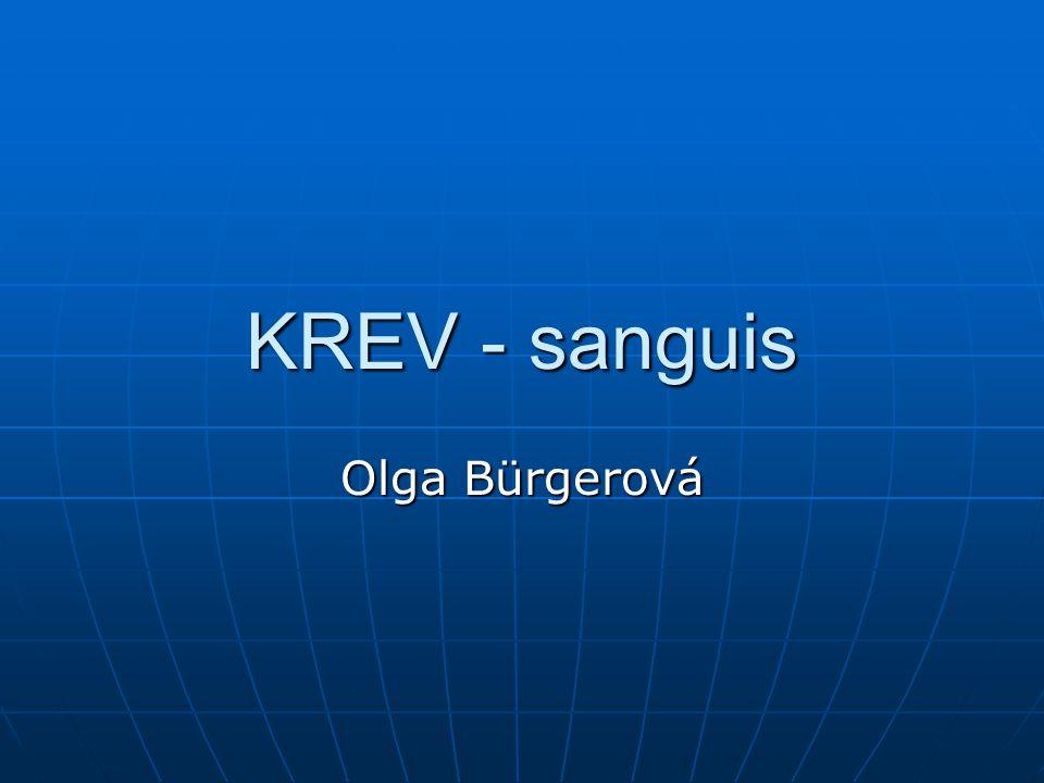 KREV - sanguis Olga Bürgerová