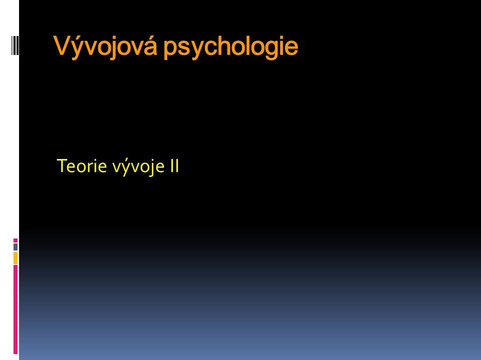 Evoluční teorie - etologie a sociobiologie Počátek tohoto směru uvažování Ch.