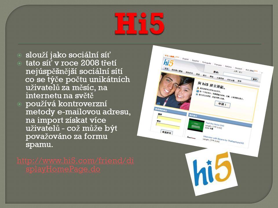 slou ž í jako sociální slu ž ba  jako chatovací server, pro ukládání a sdílení multimédií  zajímavostí je, ž e spadá pod Google, v Brazílii je nejpopulárn ě jší internetovou stránkou - www.orkut.comwww.orkut.com