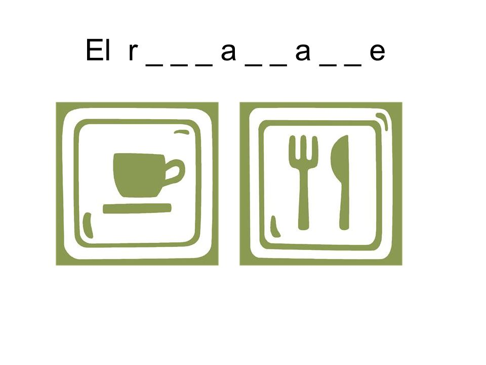 El r _ _ _ a _ _ a _ _ e