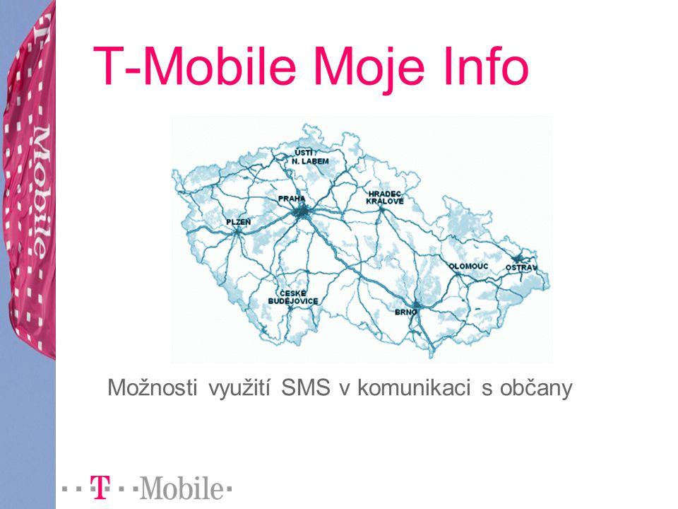 T-Mobile Moje Info Možnosti využití SMS v komunikaci s občany