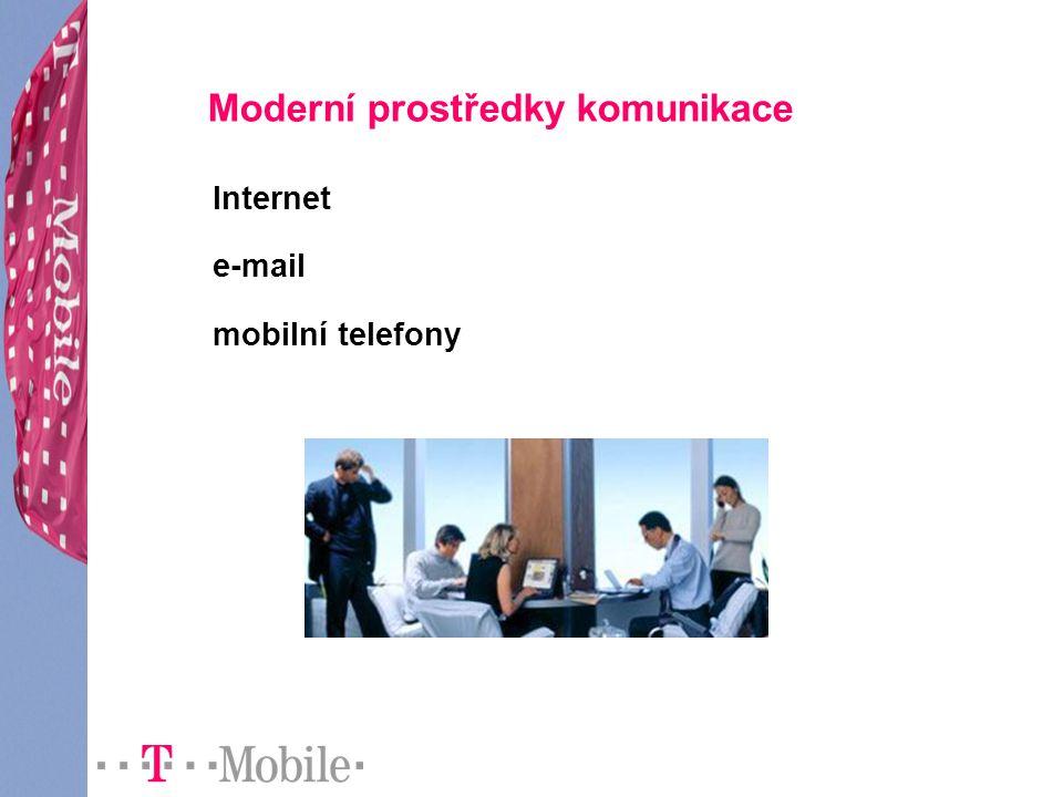 Moderní prostředky komunikace Internet e-mail mobilní telefony