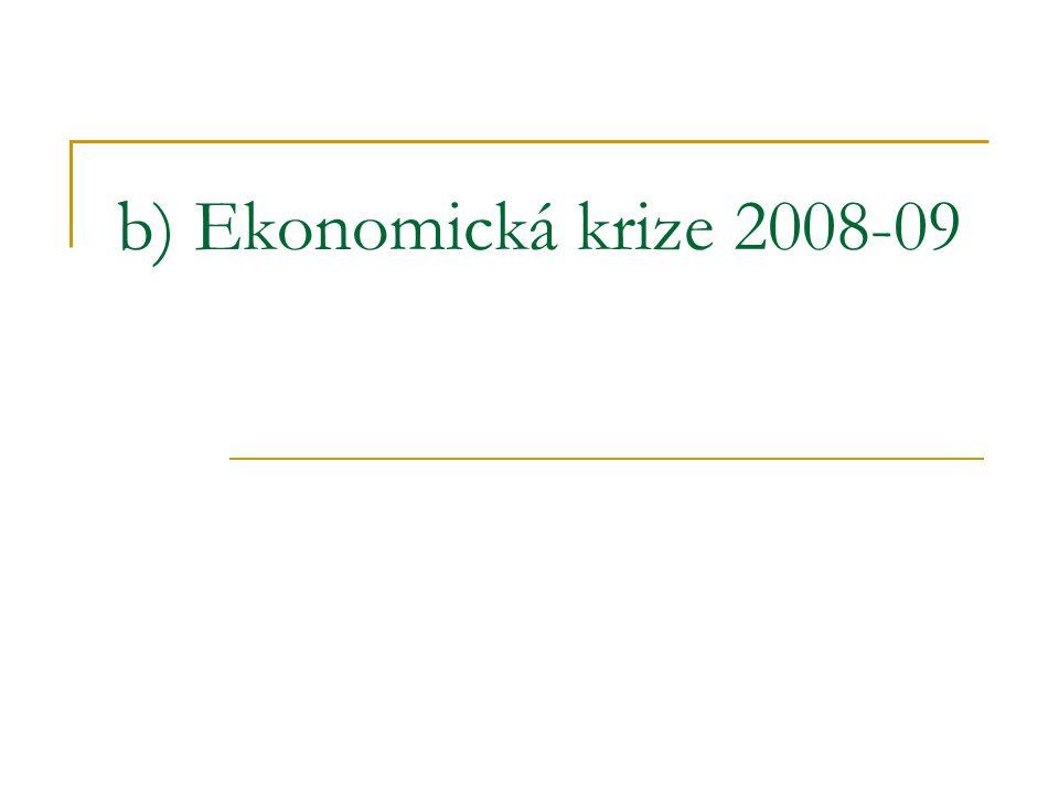 b) Ekonomická krize 2008-09