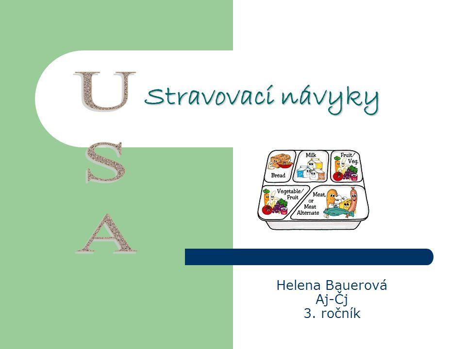 Helena Bauerová Aj-Čj 3. ročník Stravovací návyky