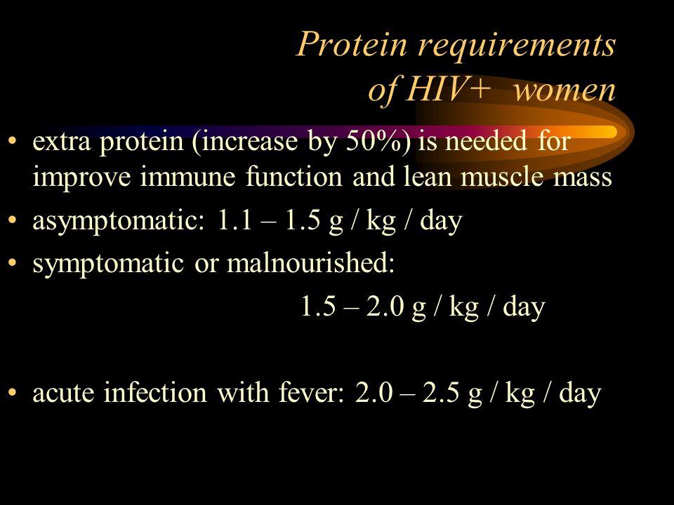 Potřeba proteinů V těle matky a plodu syntetizováno 925 g proteinů Průměrná produkce mléka cca 850 ml/den Obsah proteinů v mateřském mléce 1.25 g/100 ml Doporučený příjem proteinů u netěhotné ženy 0.8 g/kg Během gravidity 6 g/den Během laktace 11 g/den 100 g chleba představuje 7 g proteinů Denně celkem 50-60 g v graviditě, až 65 g v laktaci