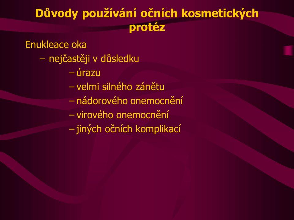 Zdroje WALDHEGEROVÁ, L.: Oční protézy.Česká oční optika.
