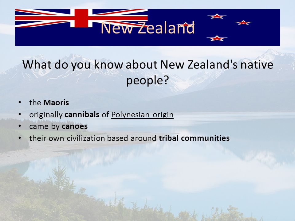 What do you know about New Zealand s native people.