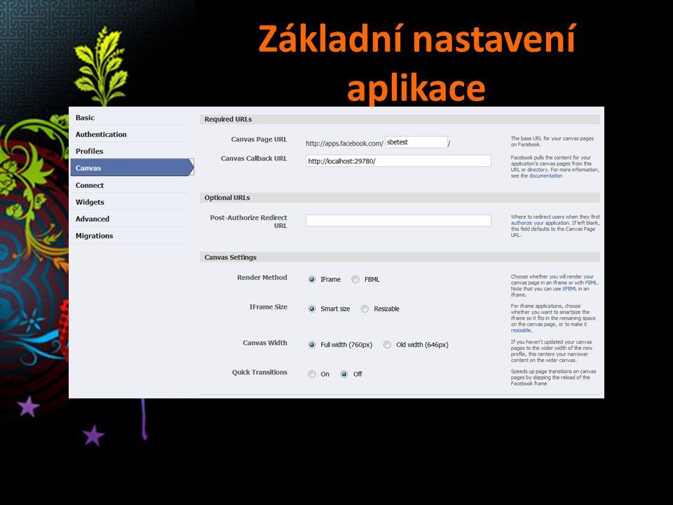 Základní nastavení aplikace