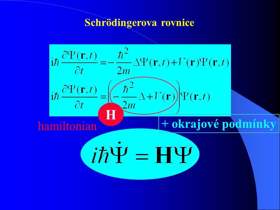 Pohyb v jednorozměrném potenciálovém poli Požadavky na vlnovou funkci  jednoznačná  všude spojitá i se svojí první derivací  normovatelná + okrajové podmínky