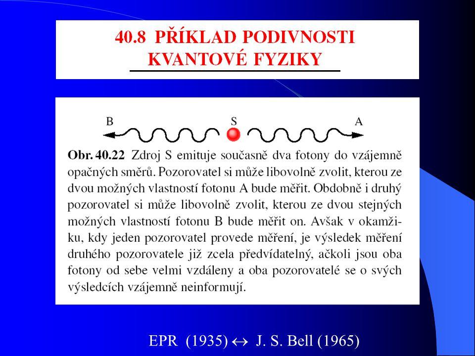 Dva pohledy na  (r) Einstein Bohr (Kodaňská škola) udává pravděpodobnost výskytuje pravděpodobnost nalezení částice je někde je tam sama o sobě dá se