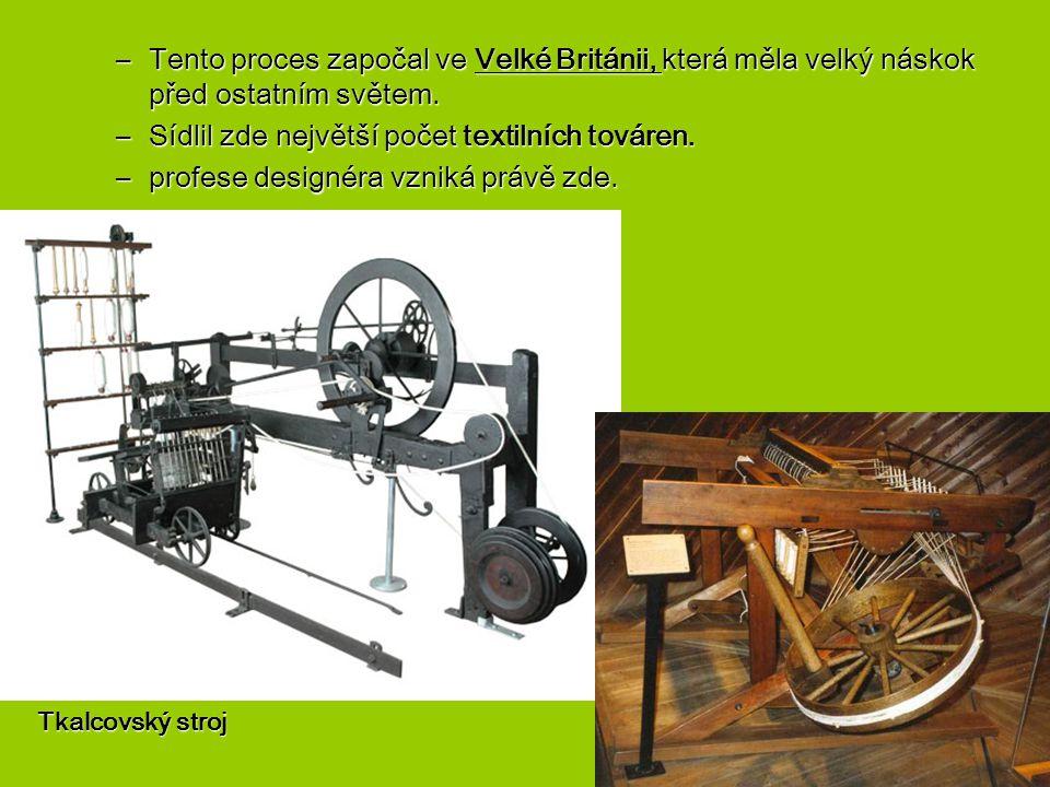 Za symbol průmyslové revoluce je považován parní stroj.