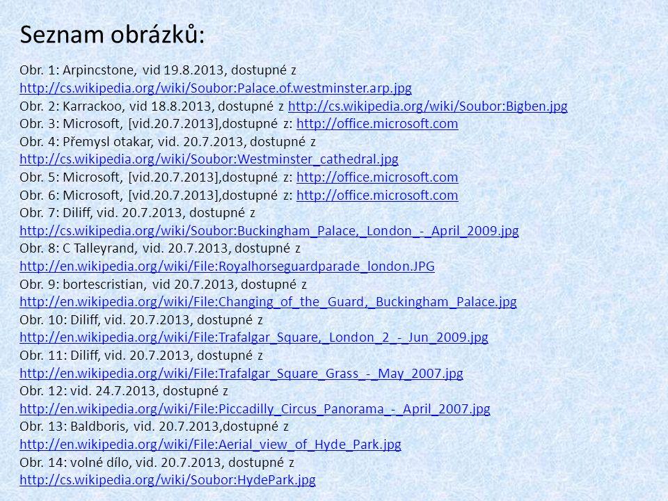 Seznam obrázků: Obr.