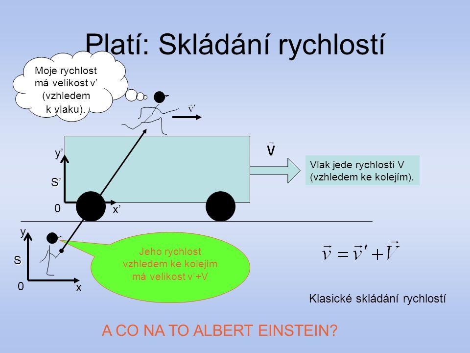 Může tedy Albert letět rychlostí světla.