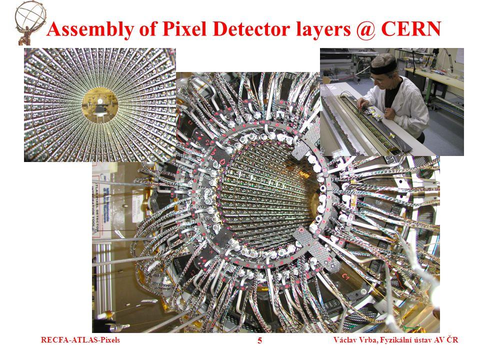 RECFA-ATLAS-PixelsVáclav Vrba, Fyzikální ústav AV ČR 5 Assembly of Pixel Detector layers @ CERN