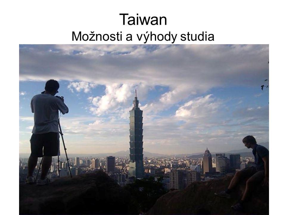 Taiwan Možnosti a výhody studia