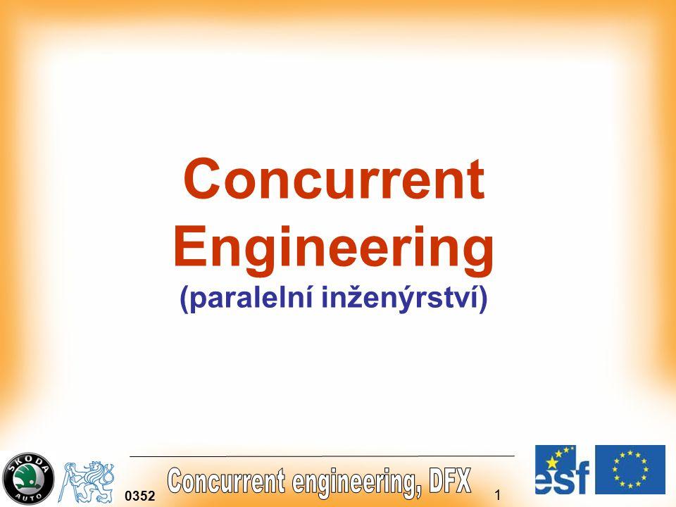 1 0352 Concurrent Engineering (paralelní inženýrství)
