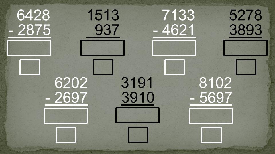 937 1513 - 2875 6428 - 4621 7133 3910 3191 - 5697 8102 3893 5278 - 2697 6202