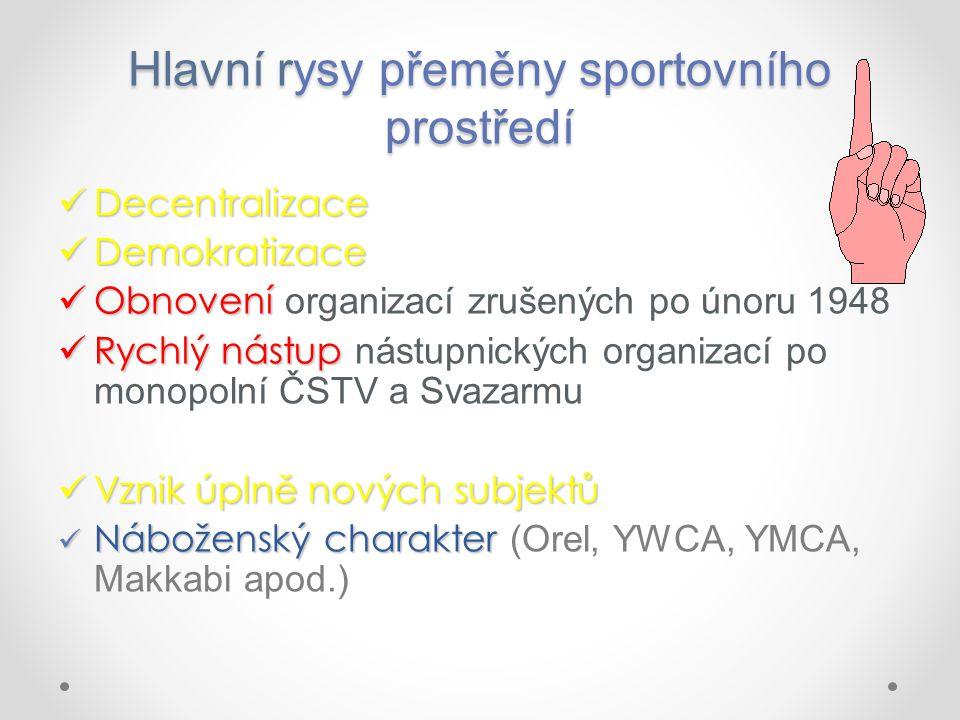 Systém financování sportu Státní zdroje – MŠMT ČR Hlavní zdroje - vlastní příjmy ze Sazky (do r.