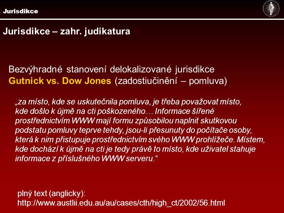 Jurisdikce Posouzení jurisdikce dle charakteru informací Zippo Mfr.