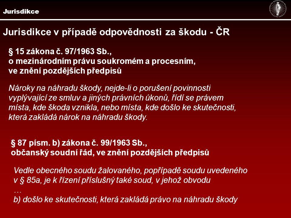 Jurisdikce Rc 76/2000 20 Cdo 1648/98 20 Cm 17/93 Soudní rozhledy, ročník 1995, č.