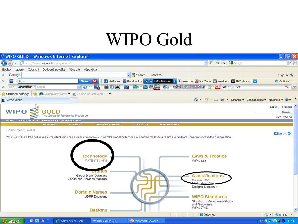 Základní vyhledávací nástroje Manuál ke stažení: http://www.wipo.int/freepublications/en/patents/434/wipo_ pub_l434_08.pdf .