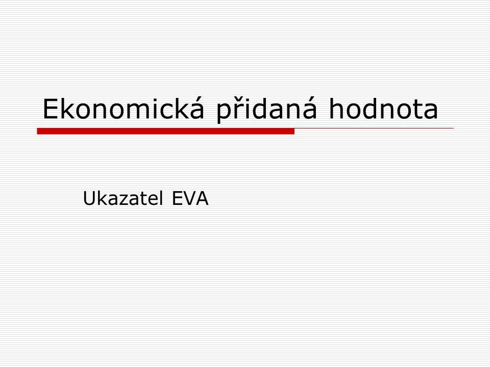 Ekonomická přidaná hodnota Ukazatel EVA
