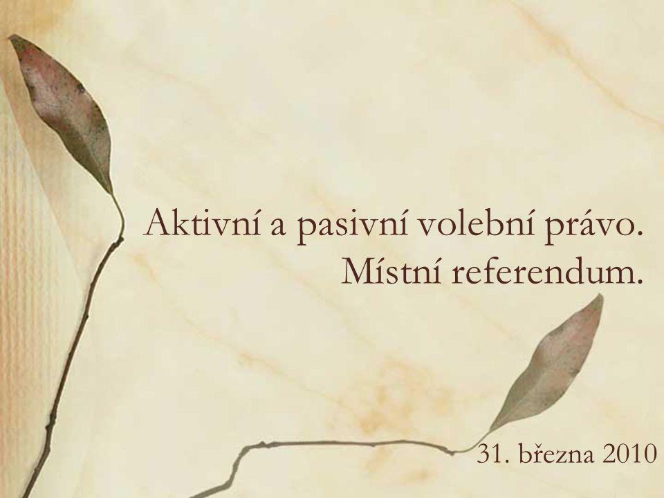 Právo podílet se na správě věcí veřejných čl.