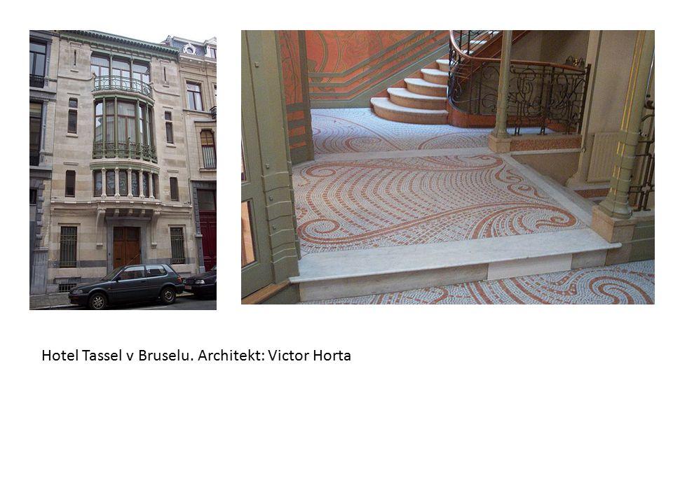 Hotel Tassel v Bruselu. Architekt: Victor Horta