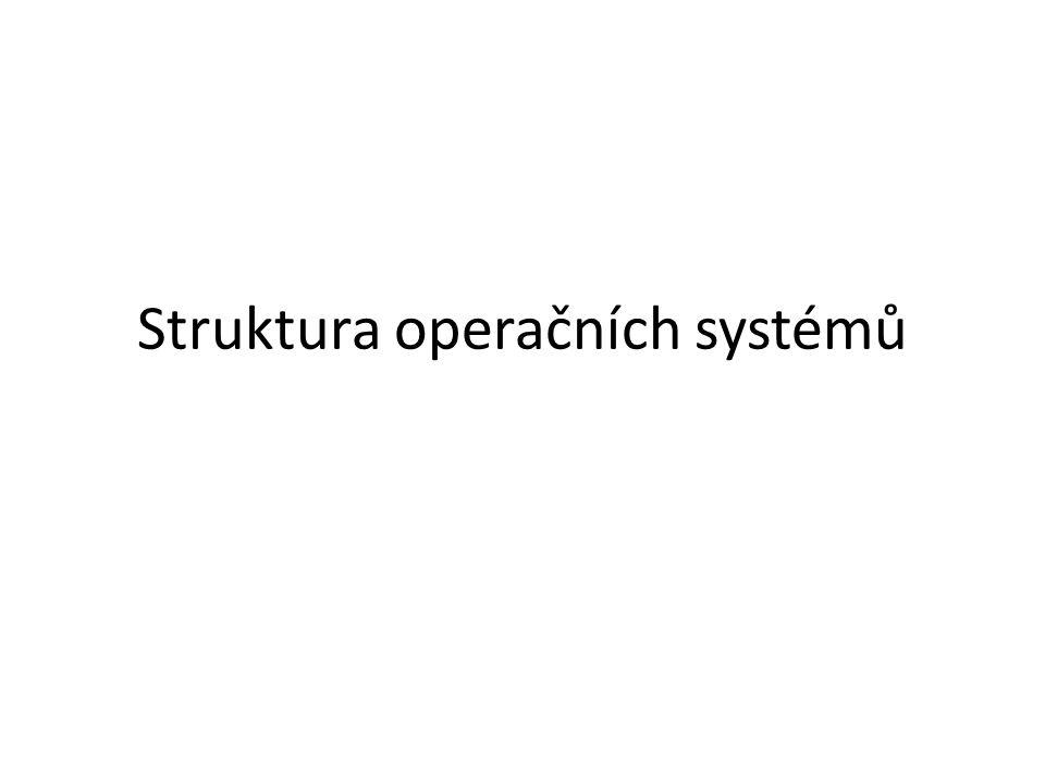 Struktura operačních systémů