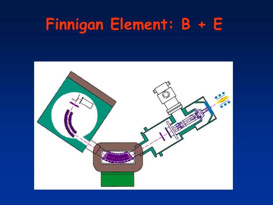 Finnigan Element: B + E