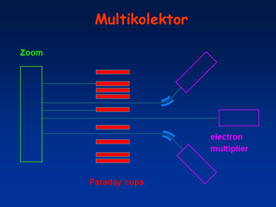 Multikolektor Faraday cups electron multiplier Zoom