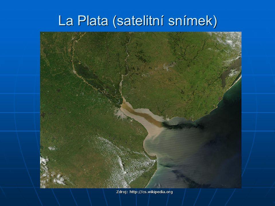 La Plata (satelitní snímek) Zdroj: http://cs.wikipedia.org