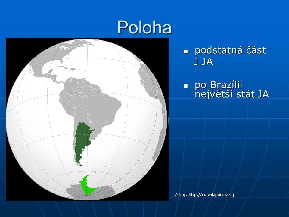 Přírodní poměry Mapa Argentiny Zdroj: http://argentina.america-atlas.com/