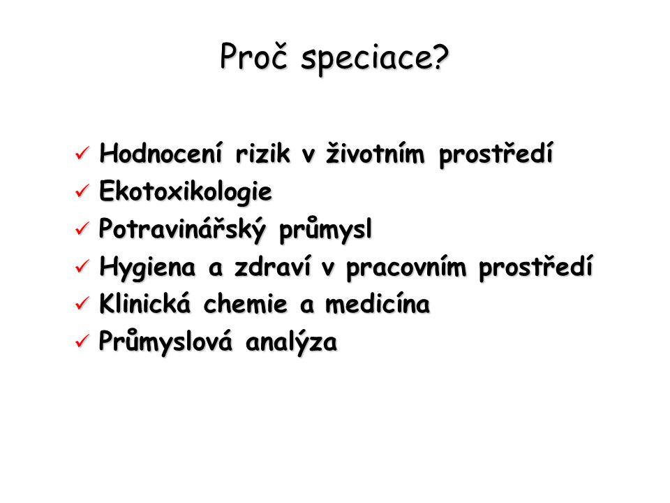 Proč speciace.