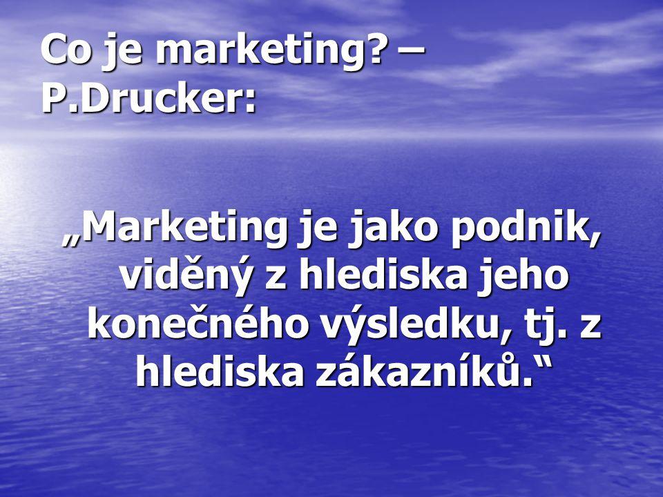 Co je marketing?- M.