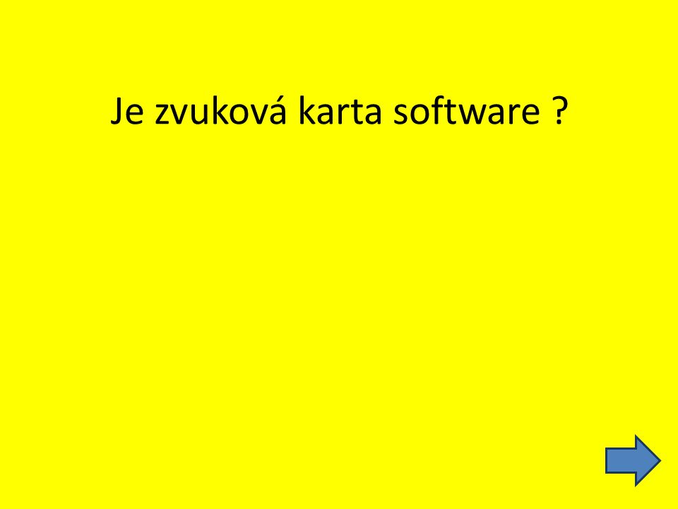Je zvuková karta software