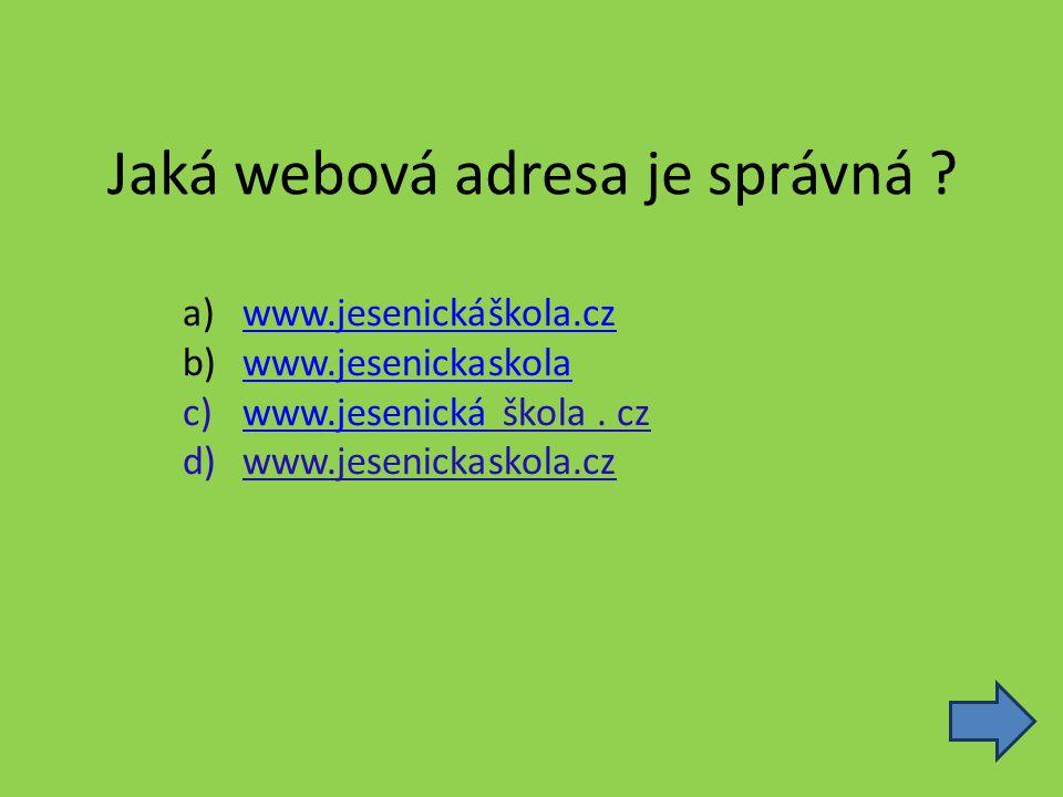 Jaká webová adresa je správná .