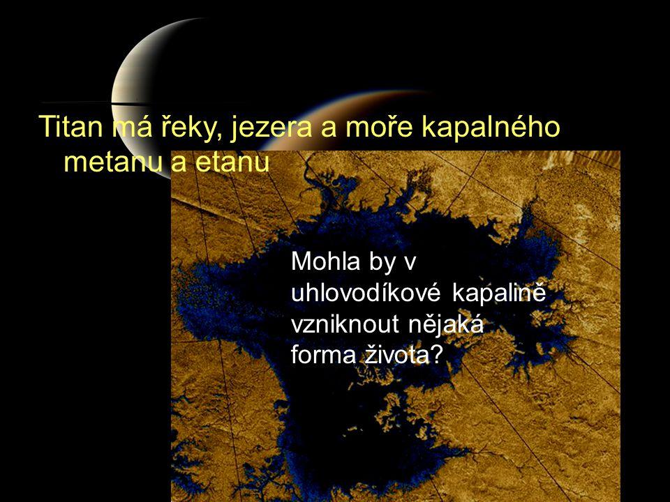 Mohla by v uhlovodíkové kapalině vzniknout nějaká forma života? Titan má řeky, jezera a moře kapalného metanu a etanu