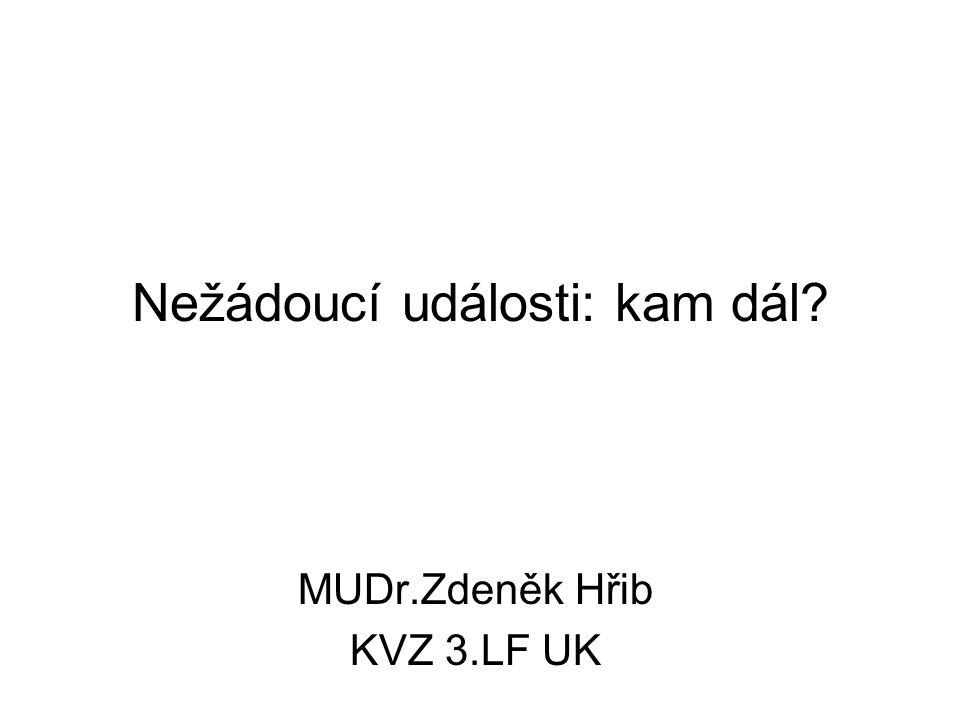Nežádoucí události: kam dál? MUDr.Zdeněk Hřib KVZ 3.LF UK