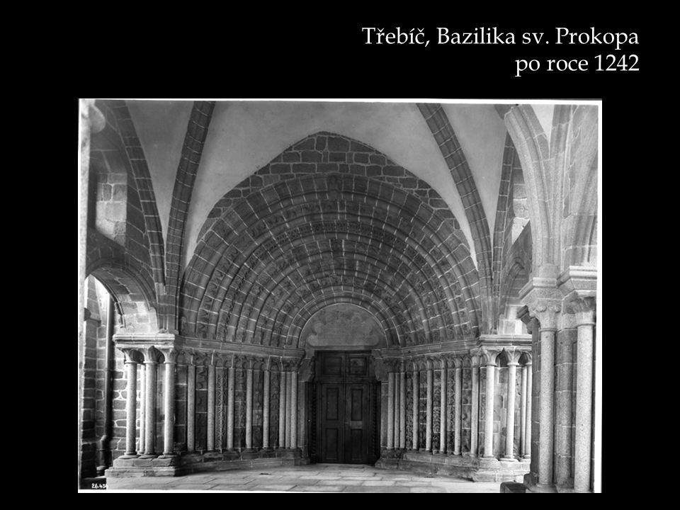 Třebíč, Bazilika sv. Prokopa po roce 1242
