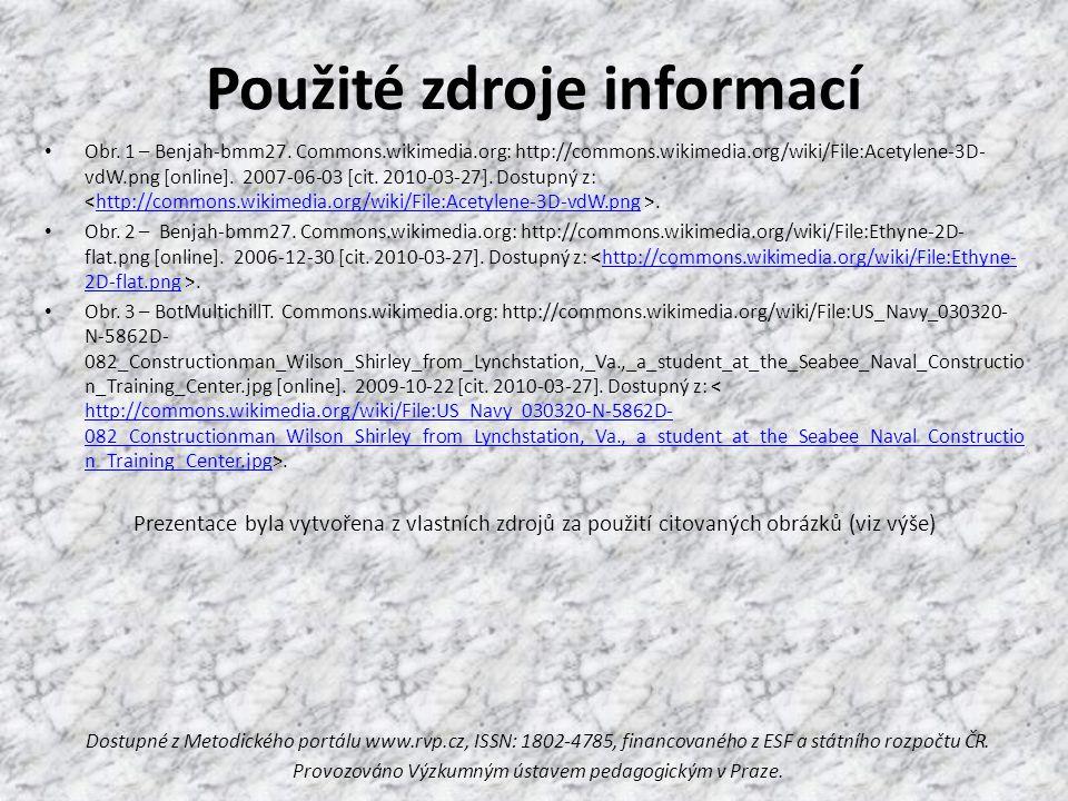 Použité zdroje informací Obr. 1 – Benjah-bmm27.