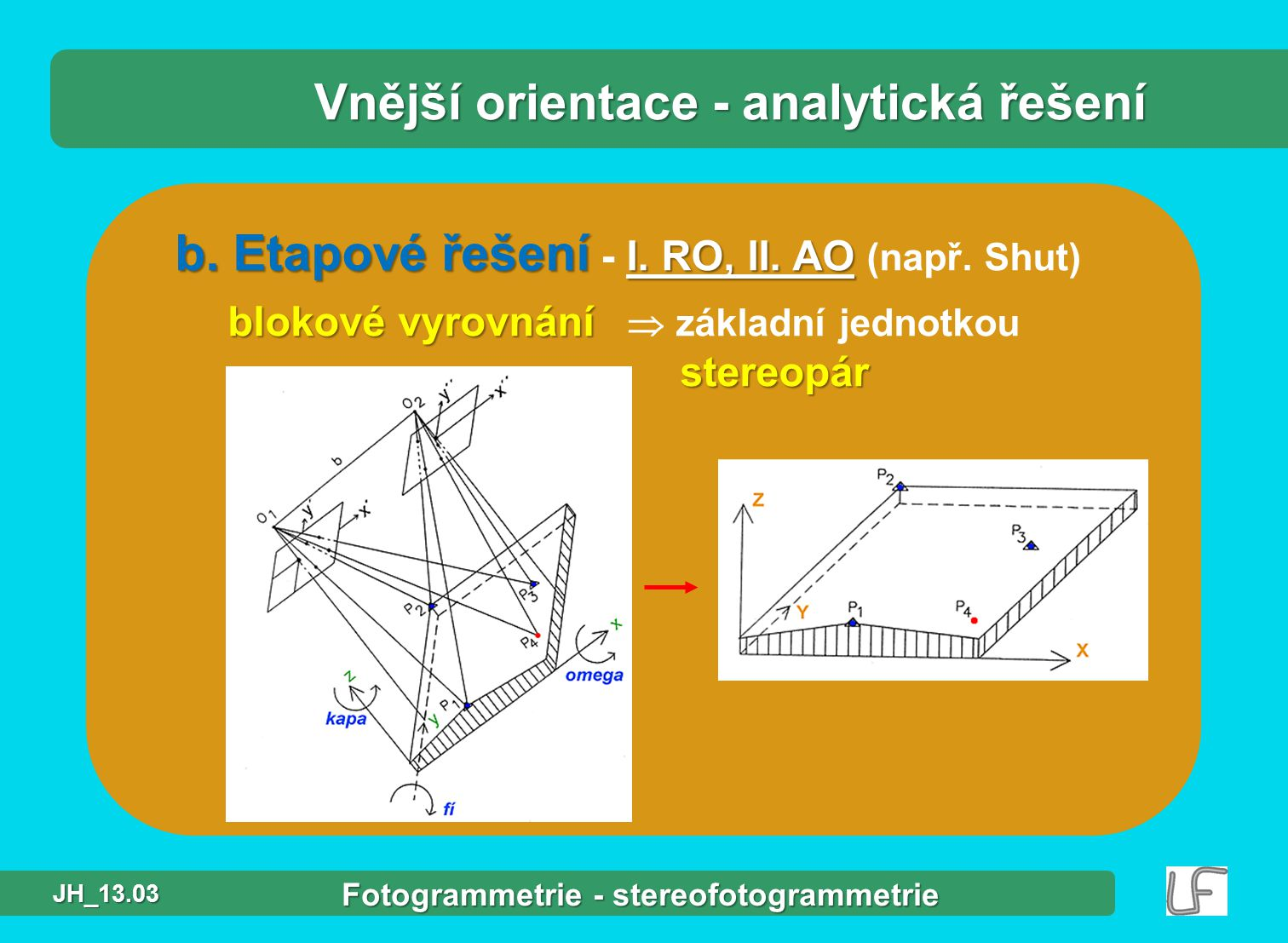 b.Etapové řešení I. RO, II. AO b. Etapové řešení - I.