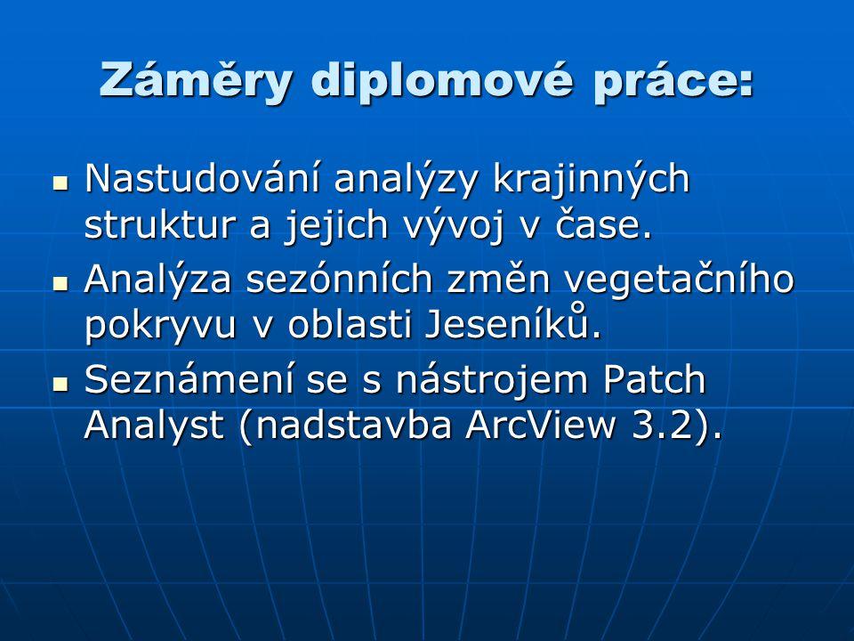 Úkoly diplomové práce 1/2: 1) Předzpracování satelitních snímků a.