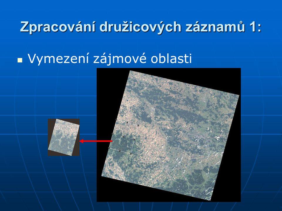 Zpracování družicových záznamů 1: Vymezení zájmové oblasti