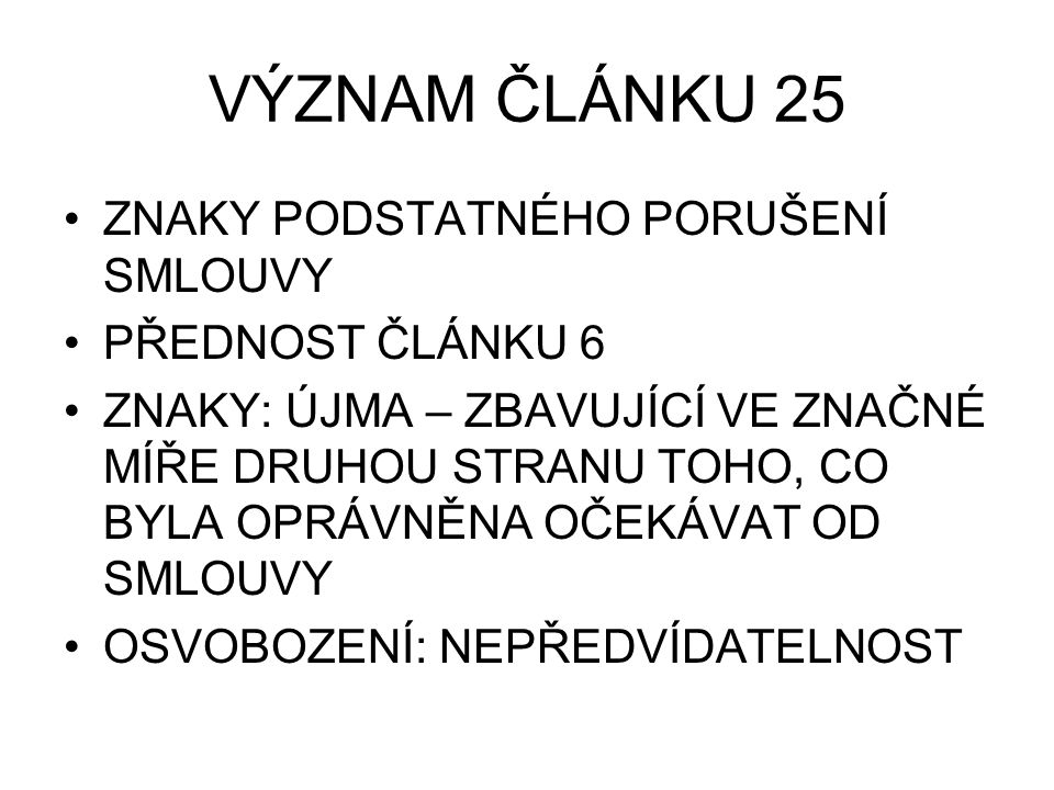 SNÍŽENÍ KUPNÍ CENY VAZBY ČLÁNEK 50 – 44 ČLÁNEK 50 – 51 - 52